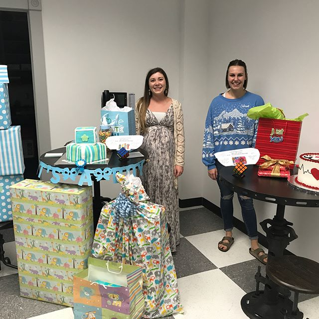 What a fun surprise! Today, we celebrated with Andi, who is about to have her first baby, and Jen, who is leaving for nursing school. It was a great celebration and fellowship for these two special ladies of our Pegasus family. Congrats ladies!
