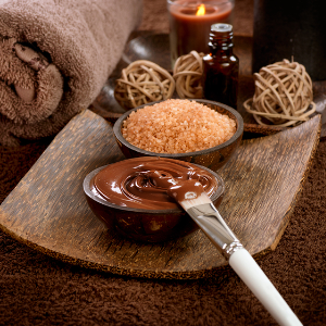 Chocolate                                     Mani $40     Pedi $75 Chocolate is a powerful ingredient with natural stimulants which will rejuvenate your beauty and youthful glow. Includes soak, callus removal, scrub, mask, paraffin wax, and hot stone massage about 15 min.