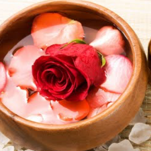 Champagne and Rose                Mani $50     Pedi $80 The Champagne and Rose package gives you an oil free exfoliating body treatment utilizing champagne and rose scrub enriched with vitamin A, C, and D for ultimate hydrating. Includes foot soak, callus removal, scrub, mask, paraffin wax, foot & leg steam massage about 10 min, and hot stone massage about 10 min.