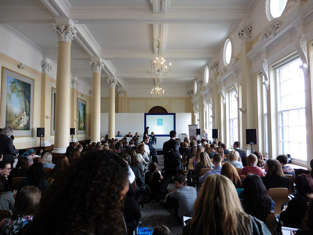 A packed seminar at the London Book Fair 2016