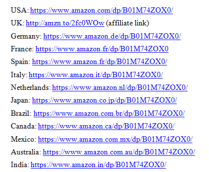 The full listing of the URLs of my book.