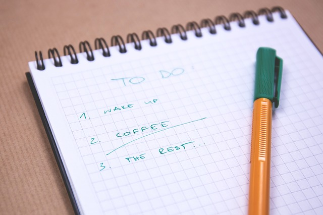 To-do list! Picture by StockSnapon pixabay.com Licence: CCO