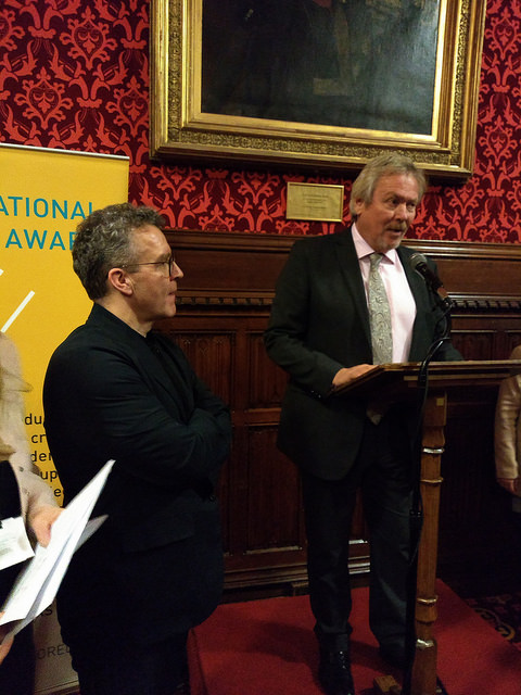 Tom Watson and Giles Watling, MPs, speaking at the Awards. Photo by Terry Freedman