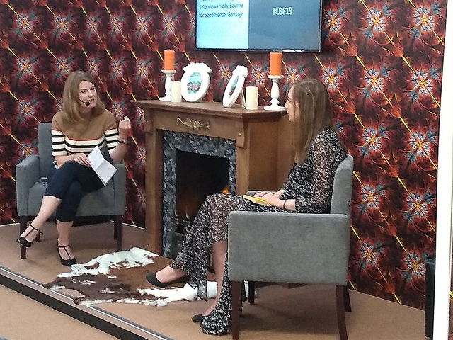Caroline O'Donogue interviewing Holly Bourne at the London Book Fair 2019, by Terry Freedman