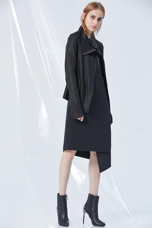 Leather Jacket GC61440 | Top GC06420 | Dress 04341