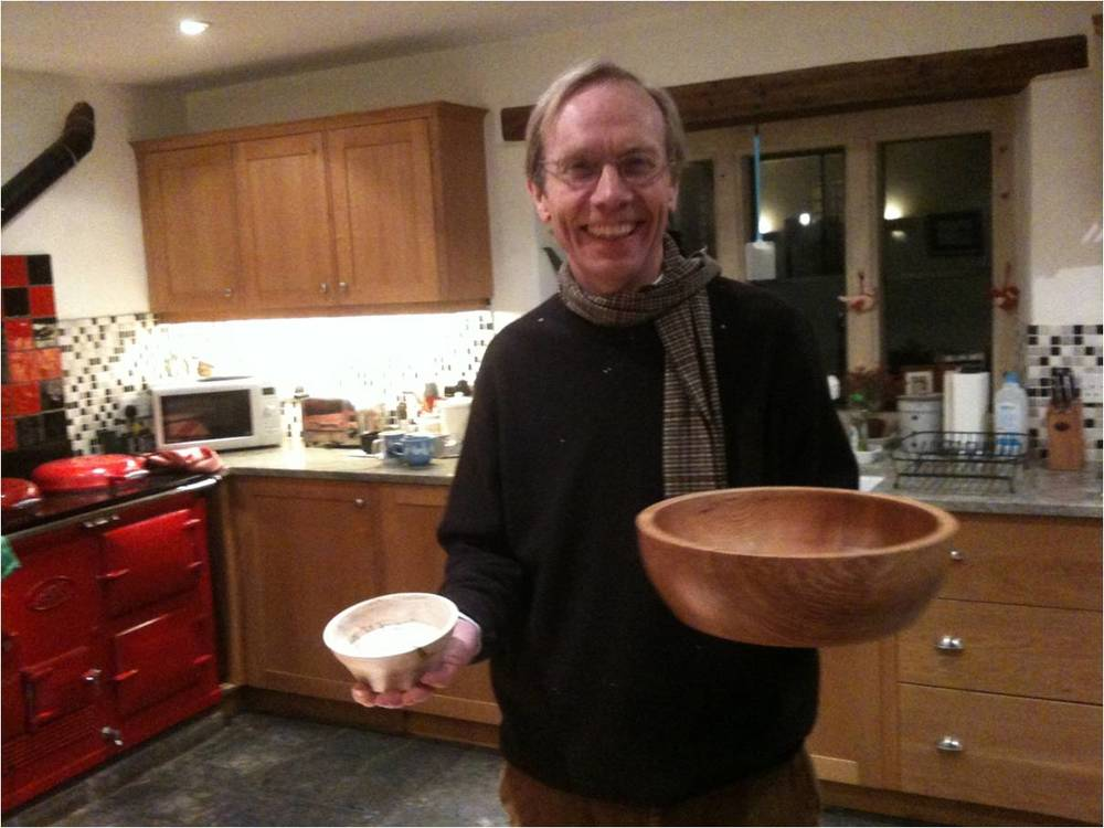 """A """"peanut"""" bowl and larger bowl achieved by a recent participant"""