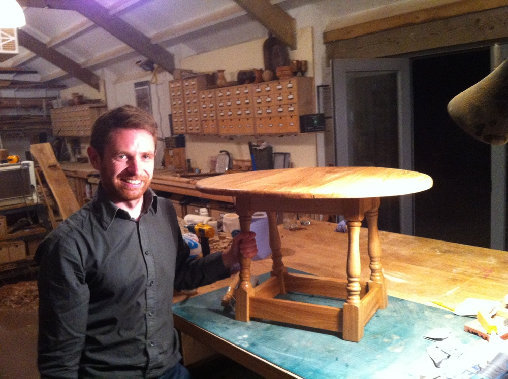 Jonathan and his finished table
