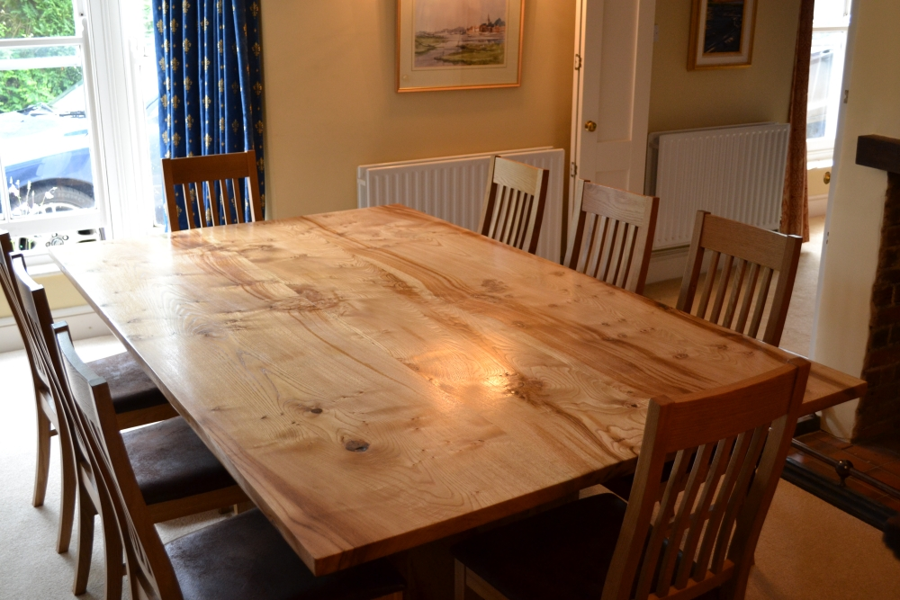 Formal table made from sweet chestnut