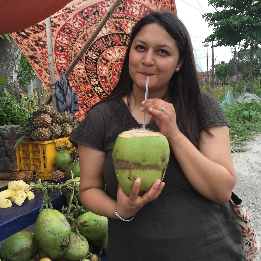 ashmita and coconut.jpg