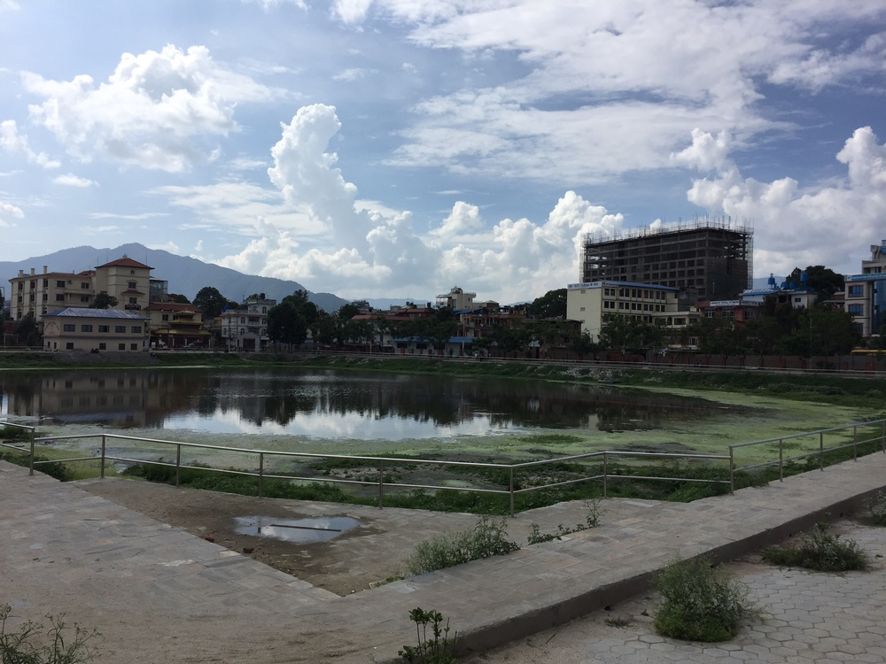 Aiming to start running around this pond mornings next week. | Near City Centre, Gyaneshwor.