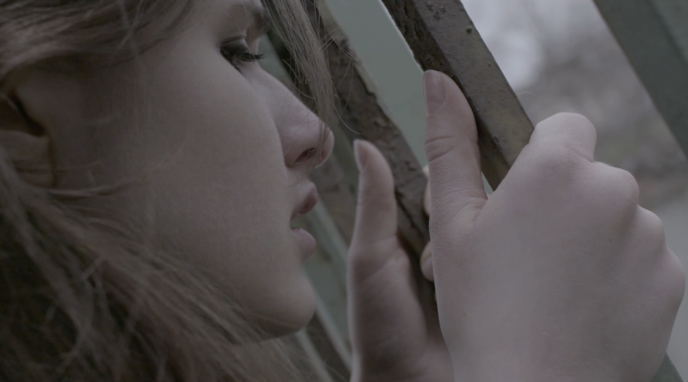 "A film still from ""Rose-colored,"" a student film about forgiveness and moving on. (c) Just Wait Productions."