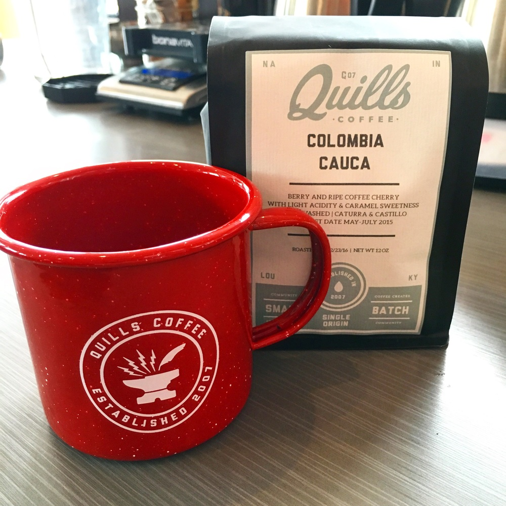 2nd Place swag from Quill's Coffee!