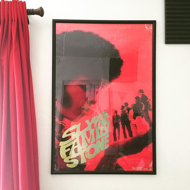 In honor of the jam session at San Fernando tonight I wanted to share this poster of Sly I've had since I was 15. My friend Andrew gave it to me as a birthday present and I've kept it on the wall in countless apartments I've lived in across 3 states. Wherever it is, is home for me. Thank you Sly! Also COME MAKE JOYFUL NOISE WITH ME @joeylefitz and @zephyravalon_ tonight @thesanfernando at 8:30!!!