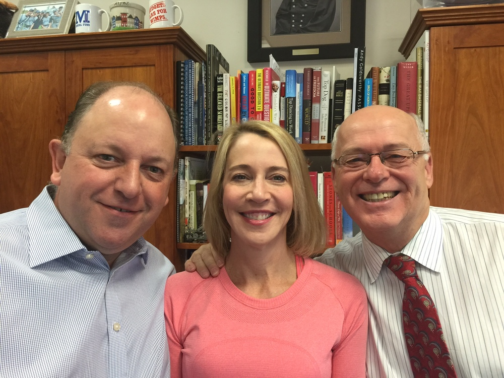 Martin Roper, Susan Littlefield and Headmaster Steve Hinds