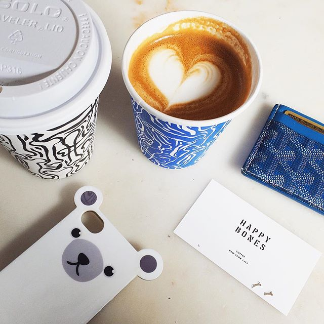 #HappyFriday coffee at #HappyBones! #☕️ 🎉 #anicase #iphonecase #iphone6 #coffee #coffeeshop #newyorkcity #spring #morning #weekend #onthetable #flatwhite #coffeeofinstagram #coffeeheart #coffeeshots  Shop at http://anicase.com/shop/polar-bear