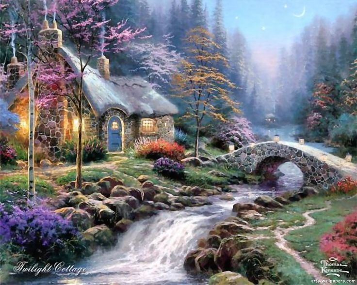 Twilight Cottage, Thomas Kinkade