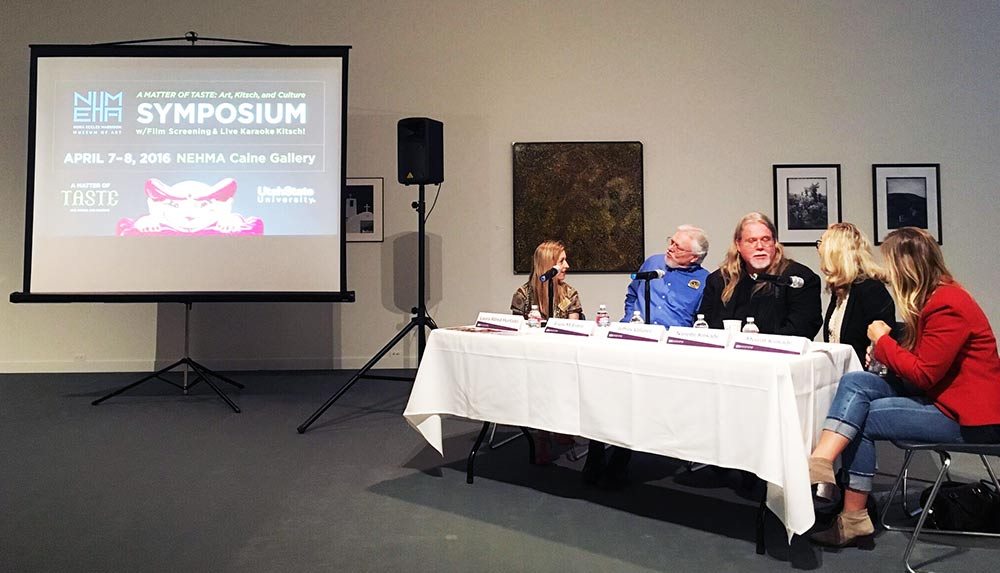 The panel symposium at the exhibit, A Matter of Taste: Art, Kitsch, and Culture.