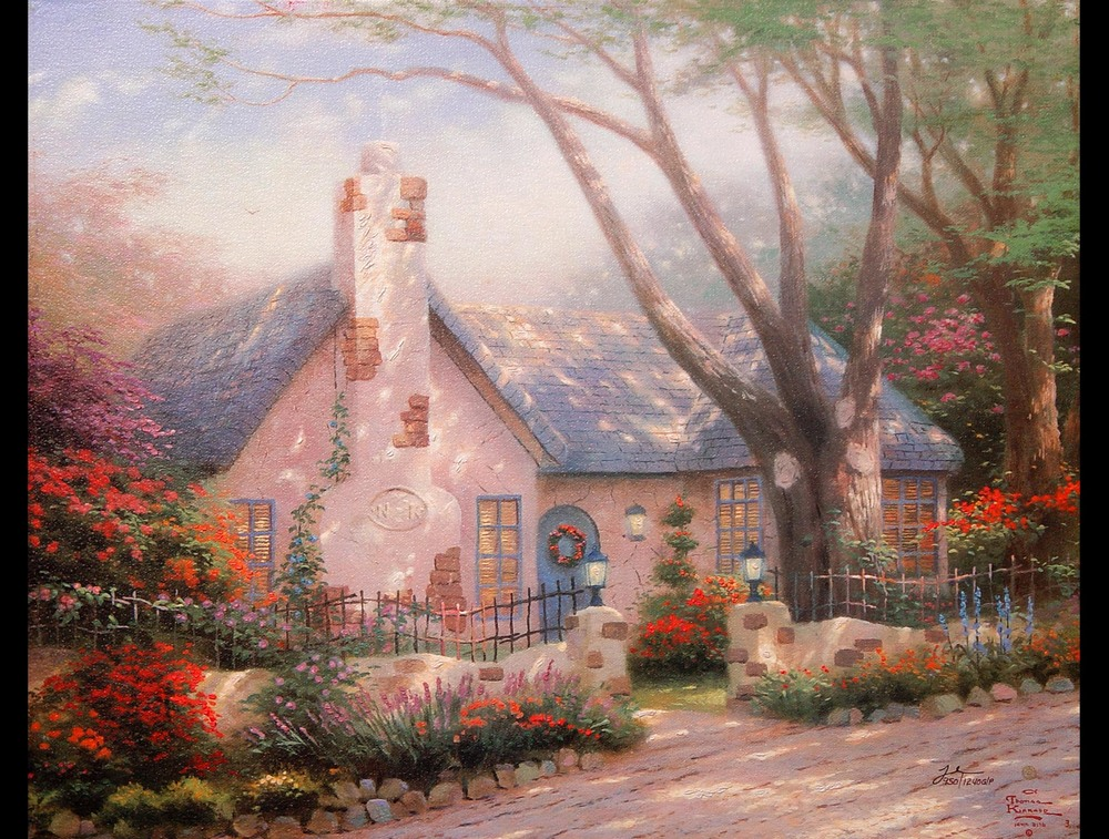 Morning Glory Cottage by Thomas Kinkade