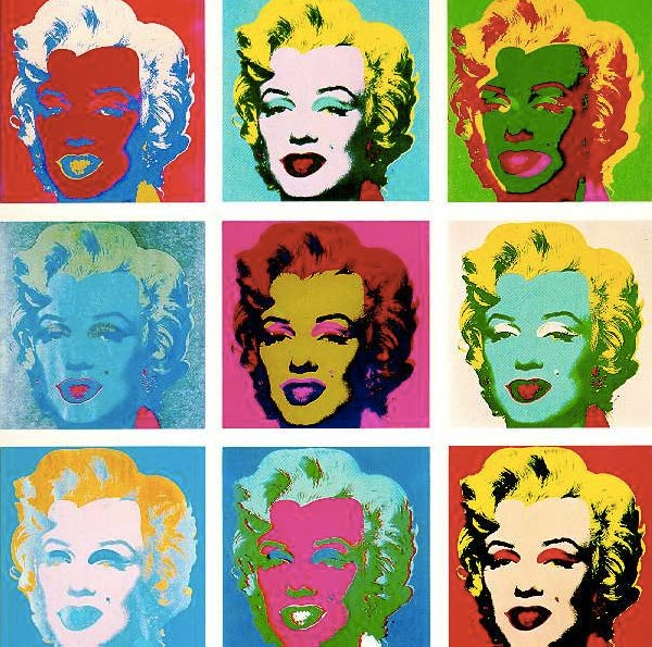 Andy Warhol's Marilyn Monroe paintings have developed into a mass produced product line.