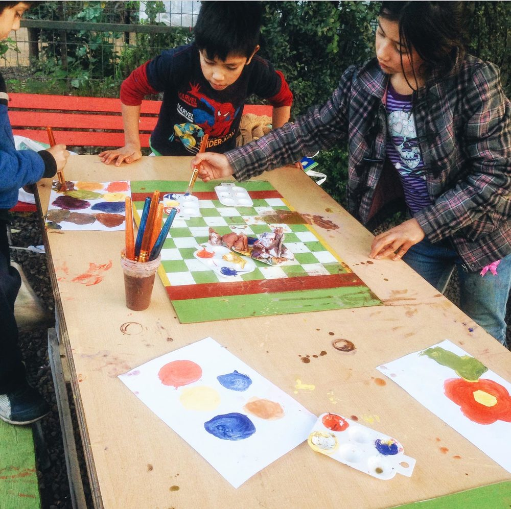 Teaching color theory with tempera paints