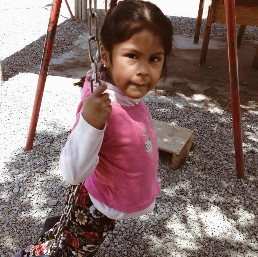 One of the students at Centro Abierto Santa Adriana