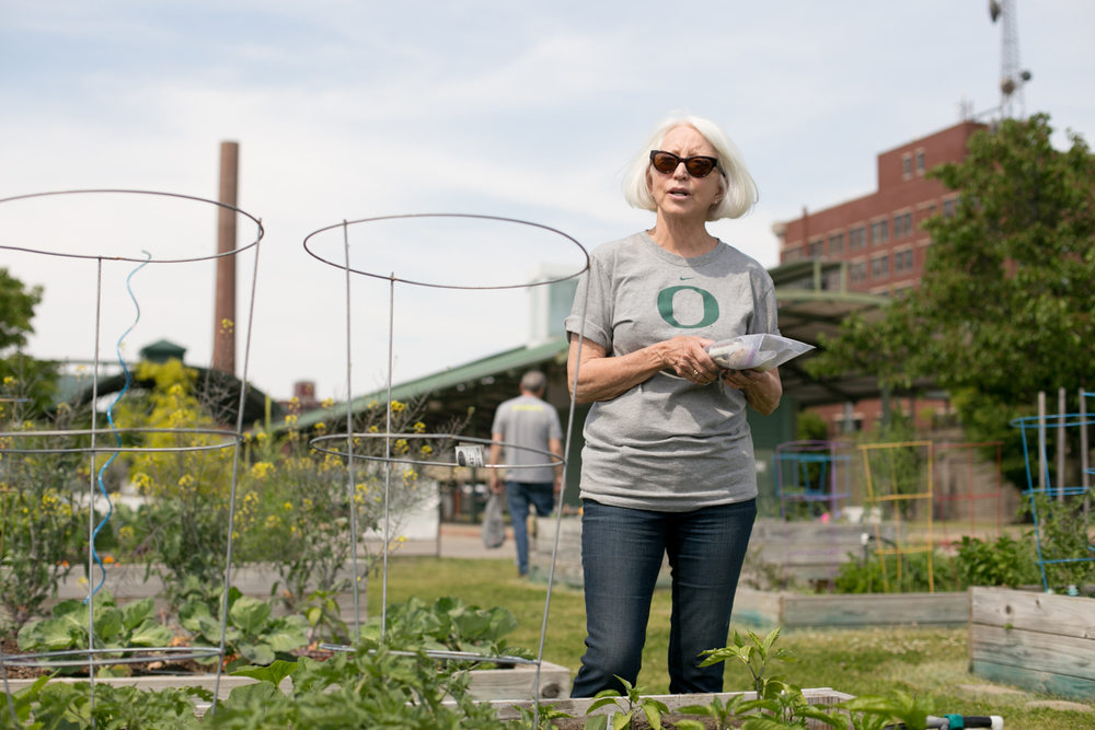 Sharon helped establish the Memphis City Gardens four years ago. They started with four beds and are now up to 20.
