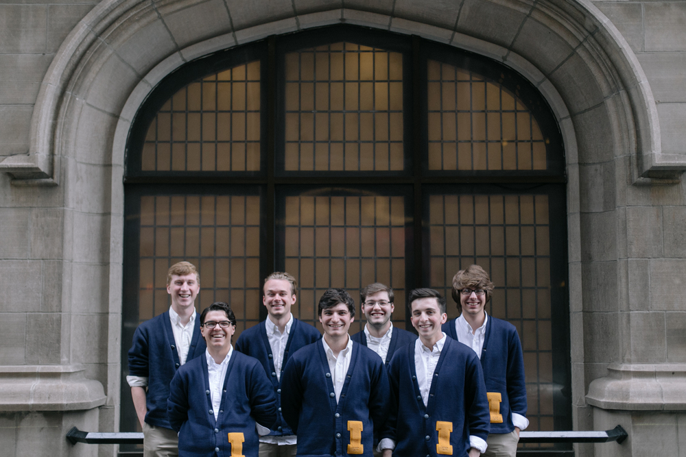 The Other Guys Illinois, an a cappella group for the University of Illinois prepares for their performance later today. Wish I had some more time to hear these fellas sing. 2/24