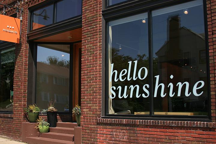"Mosquito ""Hello Sunshine"" window display"