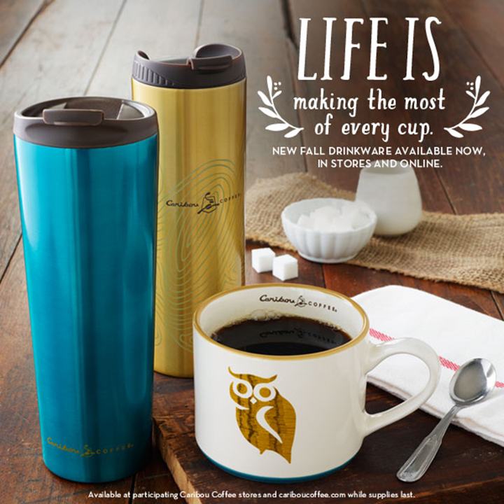 Caribou Coffee Fall 2013 drinkware, designed by Mosquito