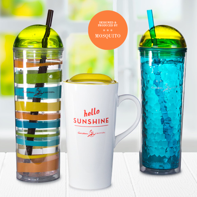 Caribou Coffee Summer drinkware 2014 - designed and produced by Mosquito Inc