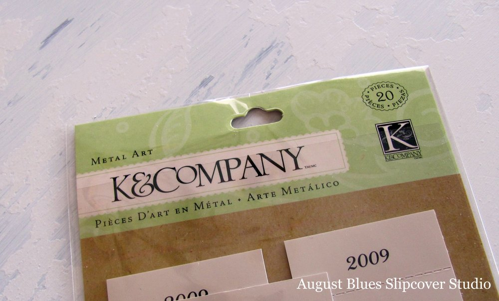 August Blues - Scrapbook Label Holders