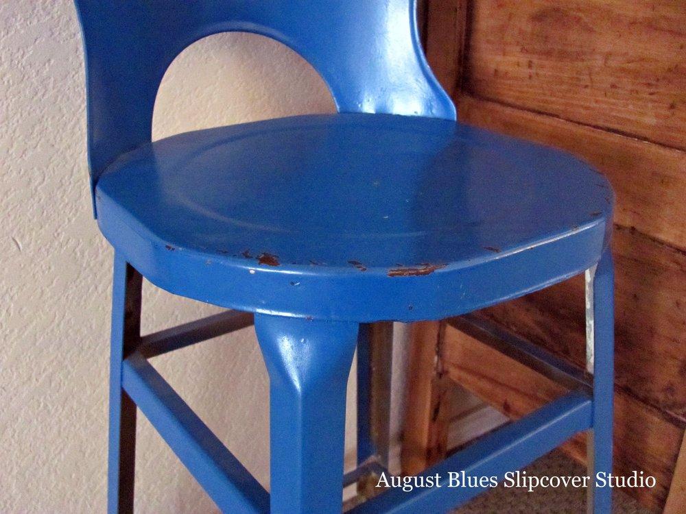 August Blues - Vintage Stool