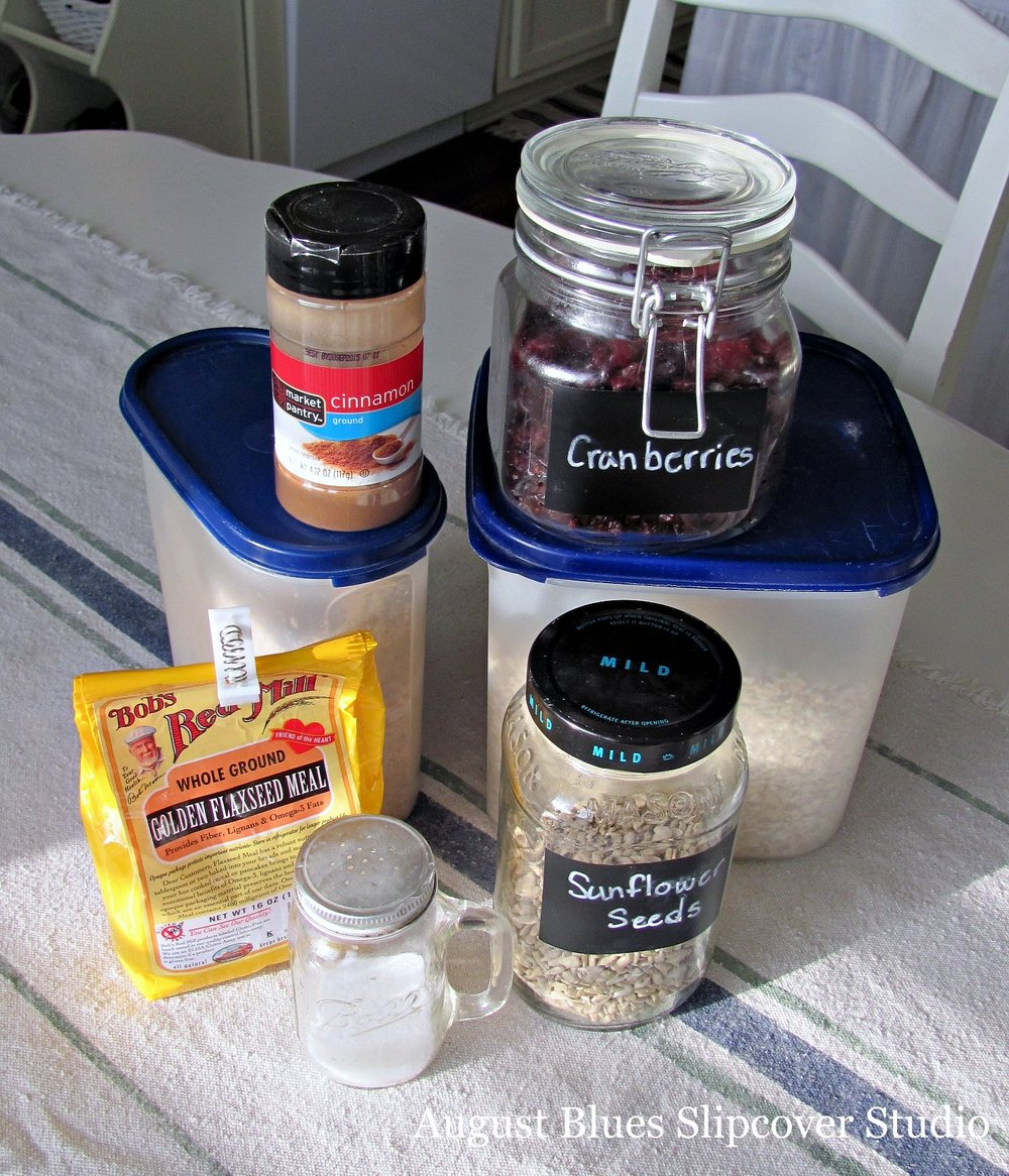 August Blues - Oatmeal Ingredients