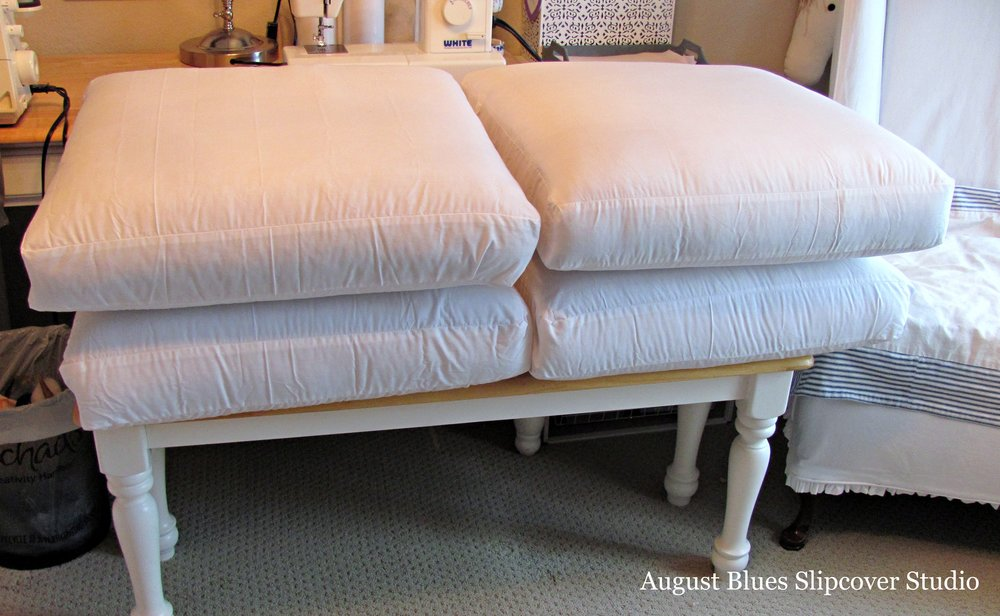 August Blues - Cushion Under Covers
