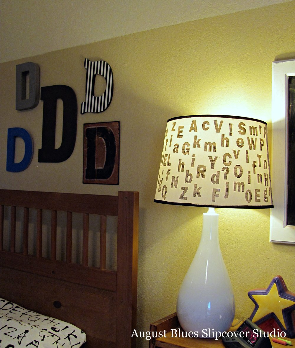 August Blues - Alphabet Lamp