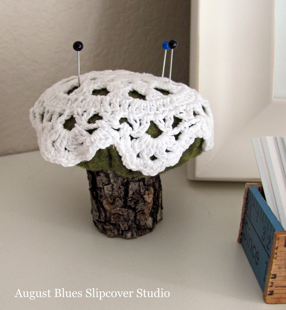 August Blues - Mushroom Pincushion