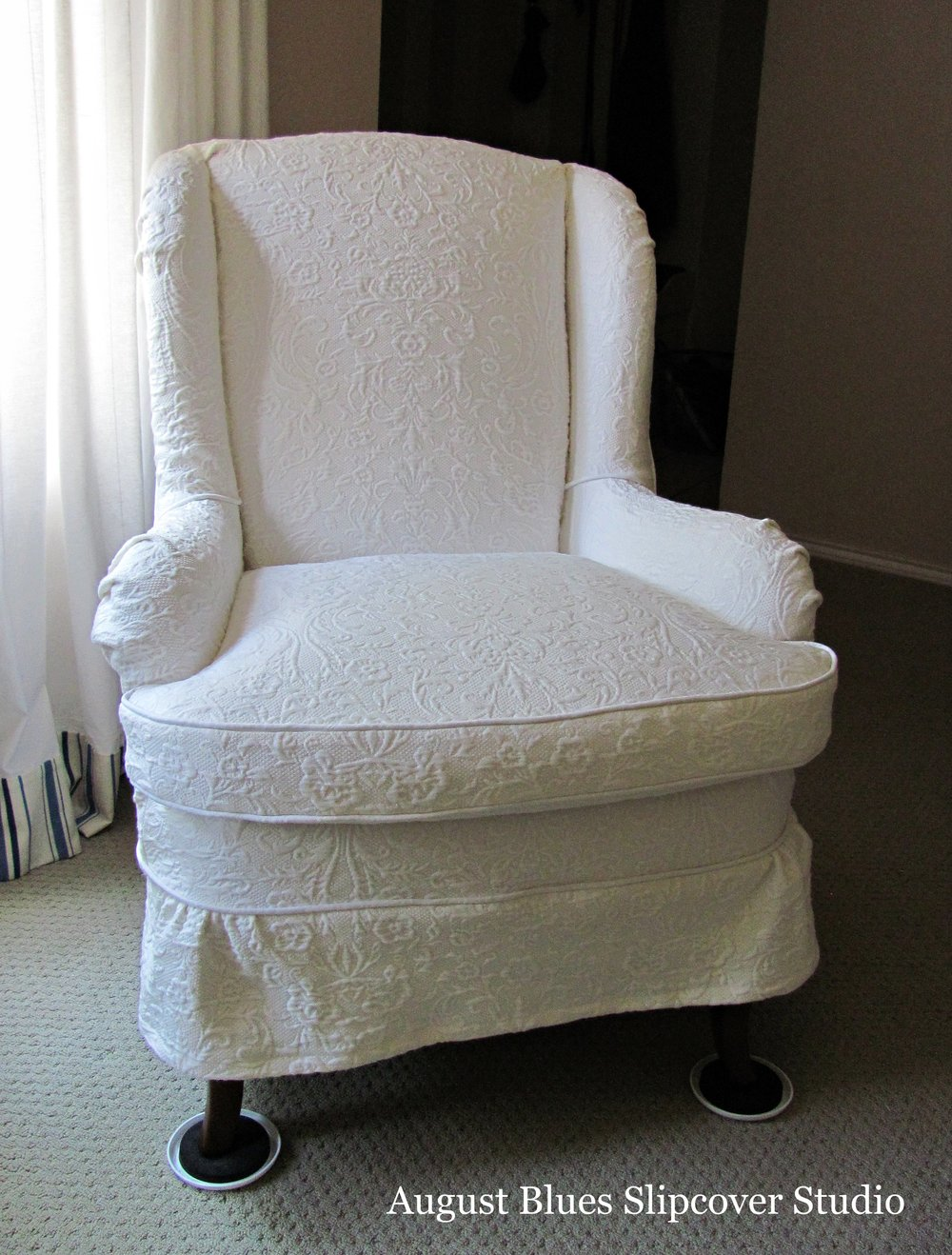 August Blues - Wing Chair After