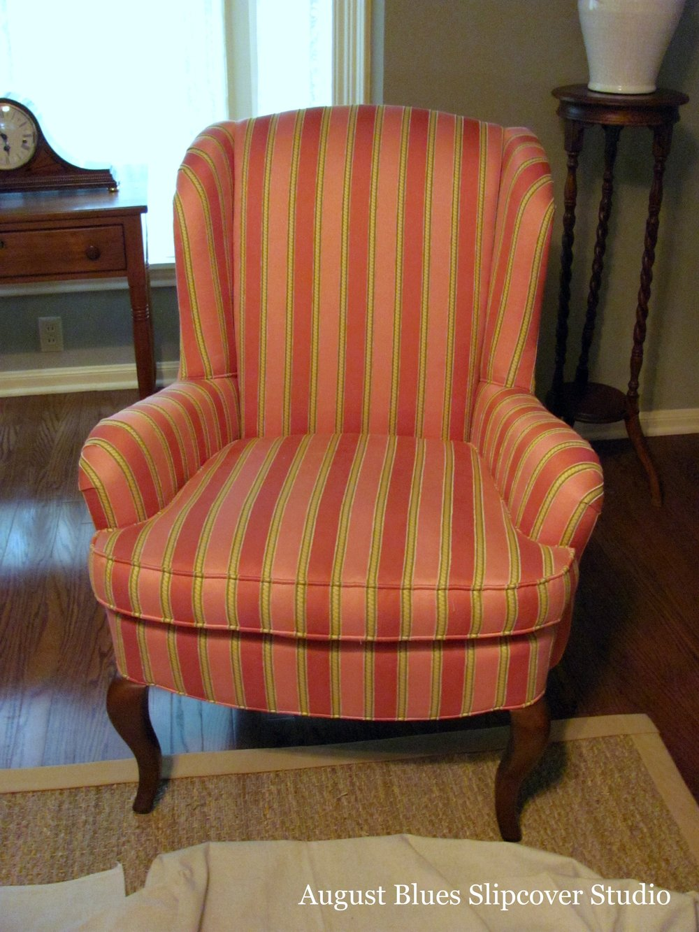 August Blues - Wing Chairs Before