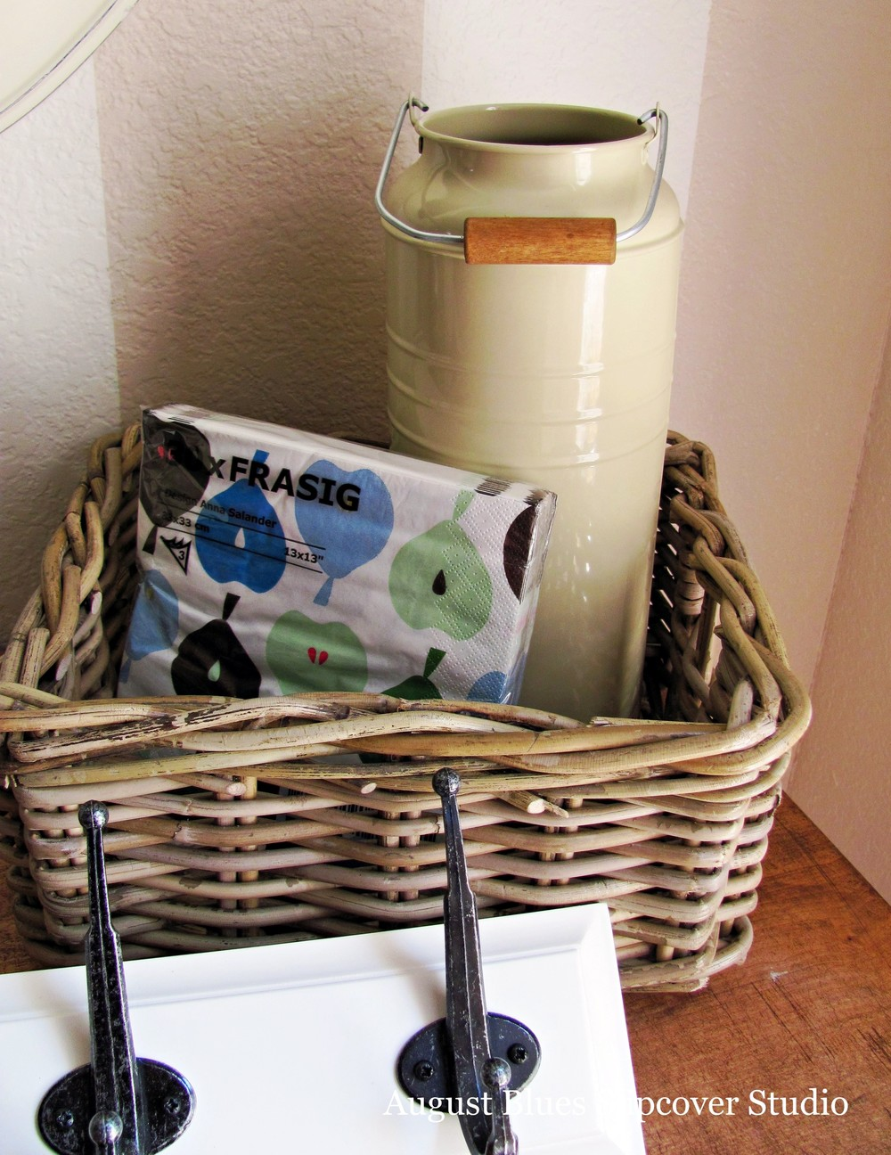 August Blues - Basket, Hooks, Vase, and Napkins