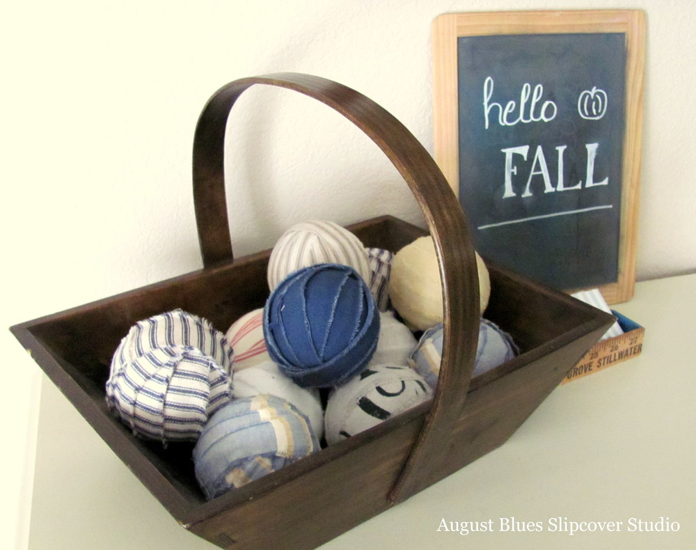 August Blues - Wooden Basket
