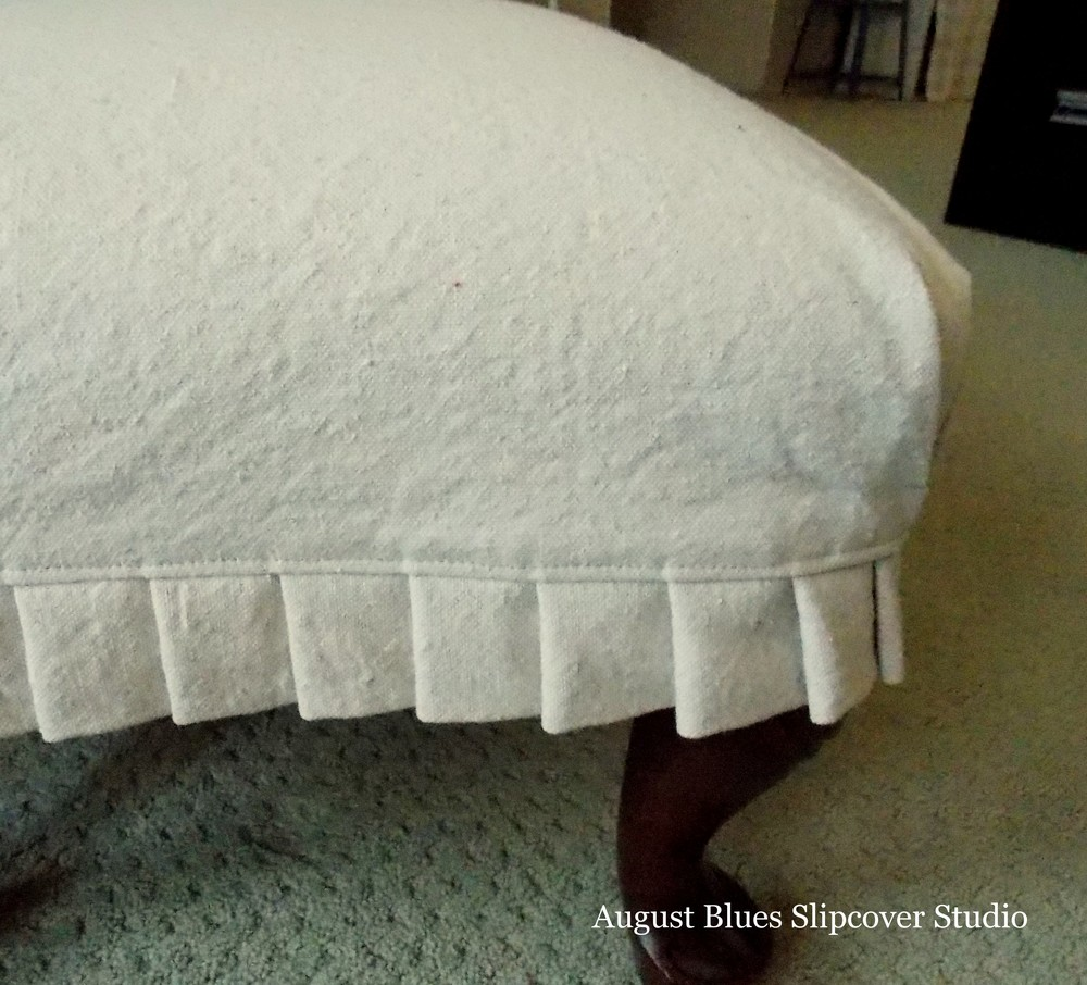 August Blues - Dropcloth Ottoman Pleats