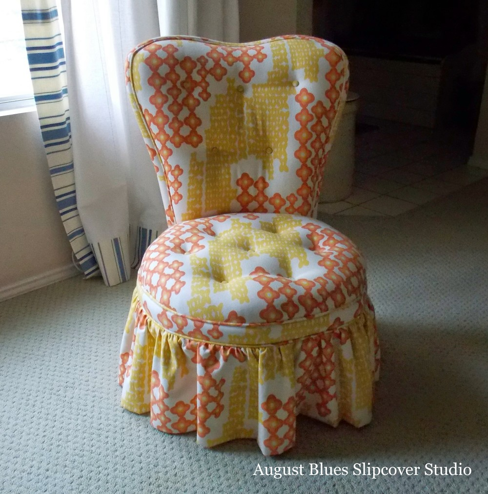 August Blues - Boudoir Chair Before