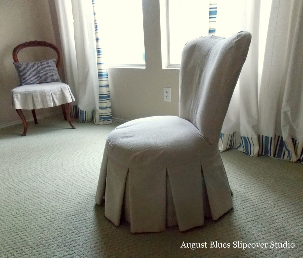 August Blues - Boudoir Chair Side