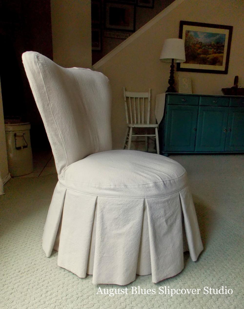August Blues - Boudoir Chair Side2