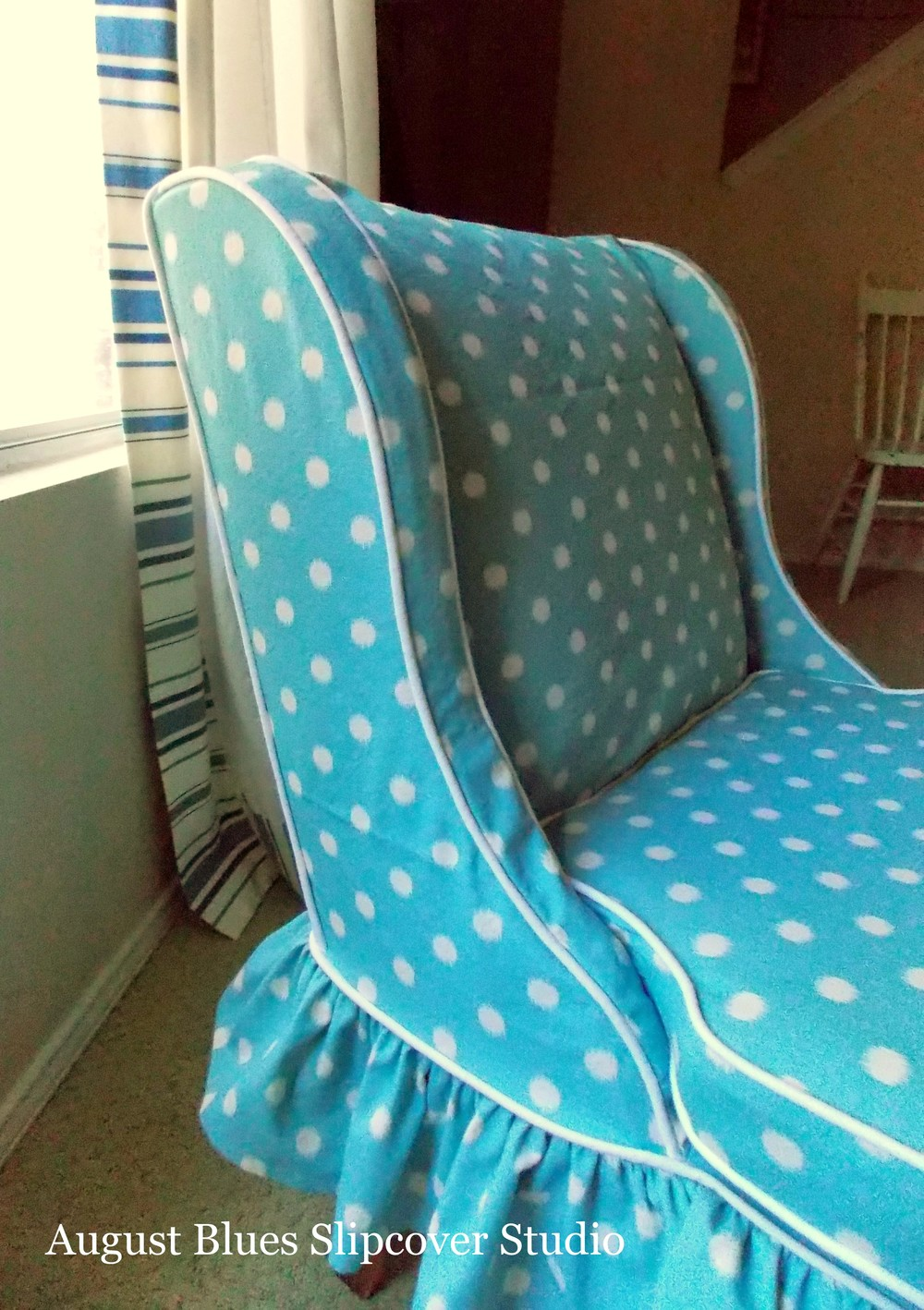 August Blues - Petite Chair Side Wing