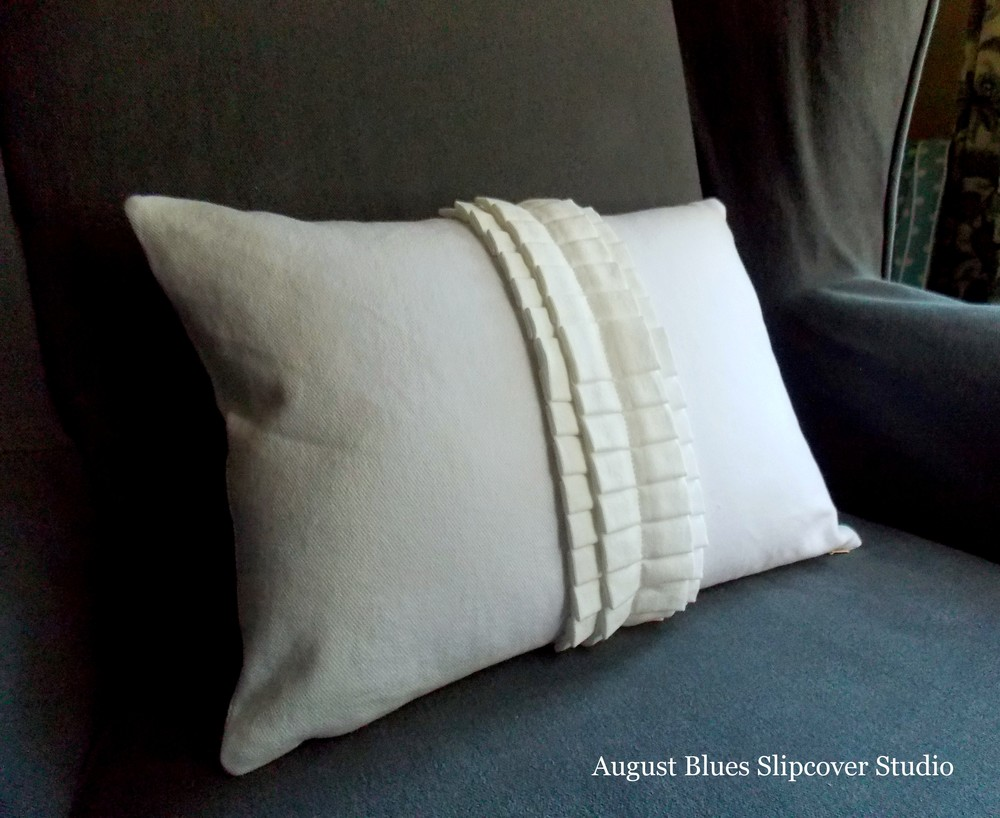 August Blues - Pleated Pillow Whole View
