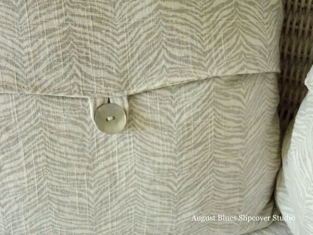 August Blues - Button Close-up