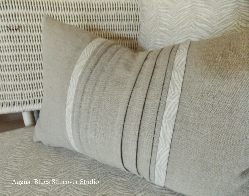 August Blues - Pin-Tuck Pillow