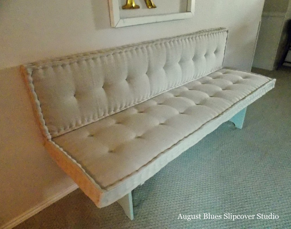 French Mattress Cushion Tutorial August Blues