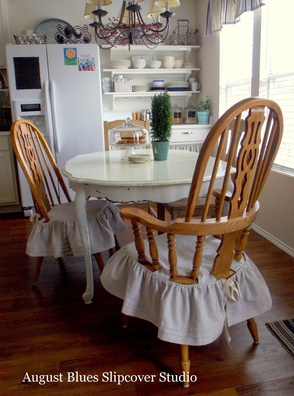 August Blues - Chairs in Kitchen